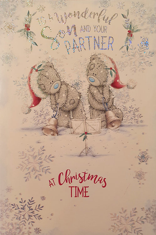 Son and Partner Christmas Greeting Card - Me to You