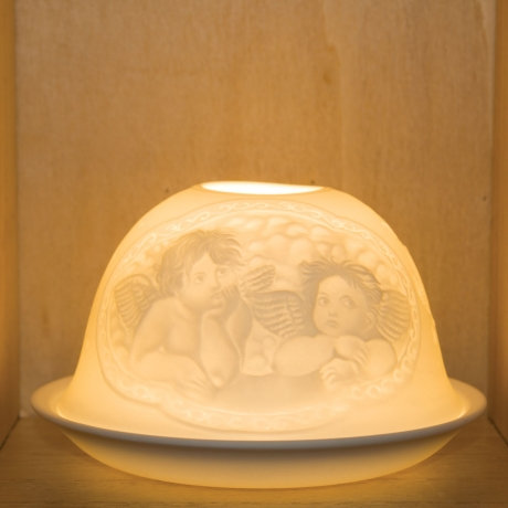 Nordic Light Candle Shade With Angels And Cherubs