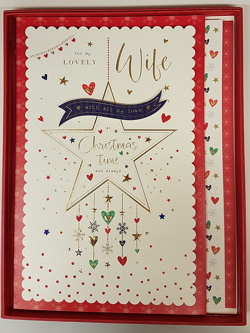 Wife Christmas Boxed Greeting Card With Star