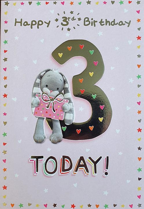 3rd Female Birthday Card