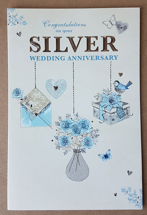 On Your Silver Wedding Anniversary Greeting Card