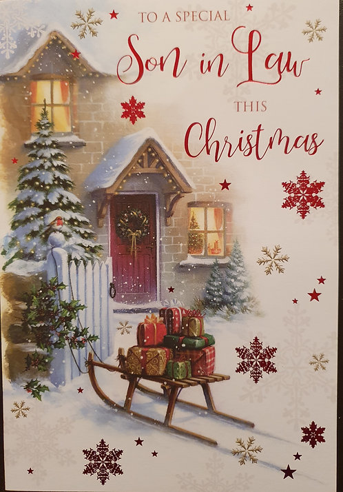 Son in Law Christmas Greeting Card