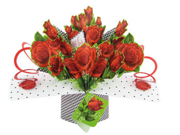 Roses Pop Up Greeting Card