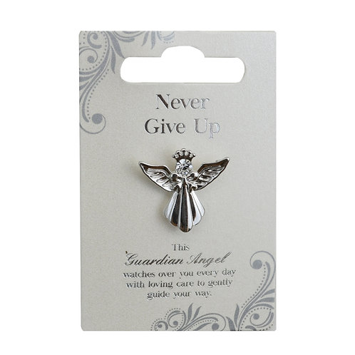 Guardian Angel Pin - Never Give Up