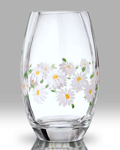 Daisy Round Glass Vase by Nobile Glass and Giftware