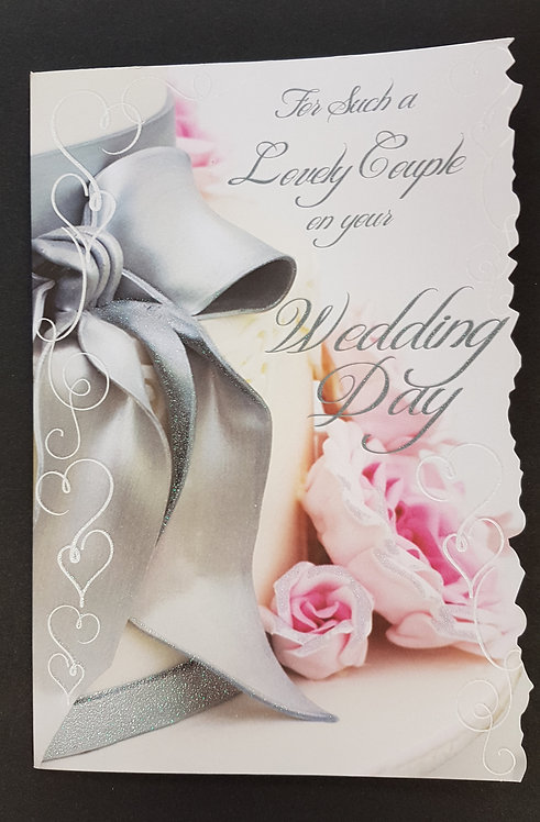 Wedding Day - For Such a Lovely Couple Greeting Card