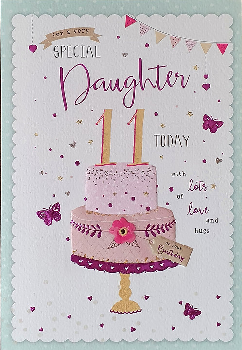 Daughter 11th Birthday Card