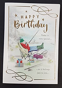 male birthday greeting card fishing