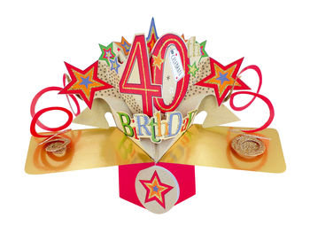 40th - Stars Pop Up Greeting Card