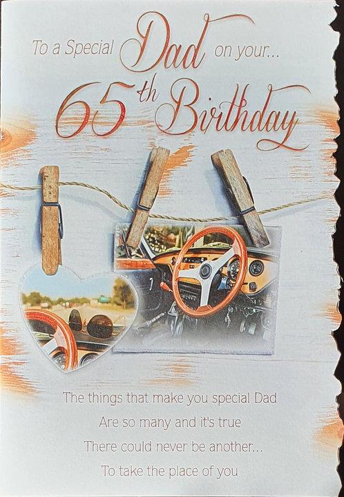 Dad 65th Birthday Card