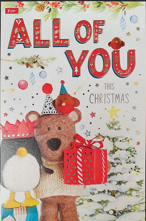 For All Of You Christmas Greeting Card