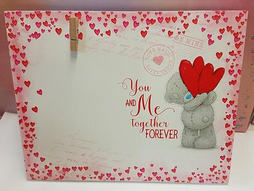 Valentine's Memo Peg Board - Me to You