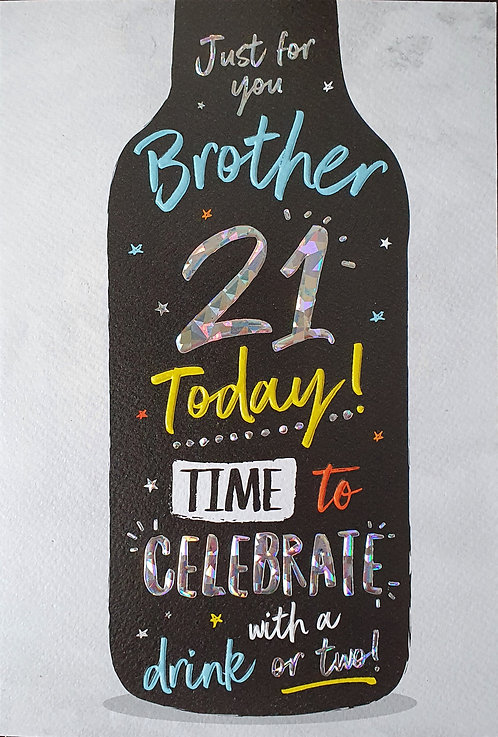 Brother 21st Birthday Card