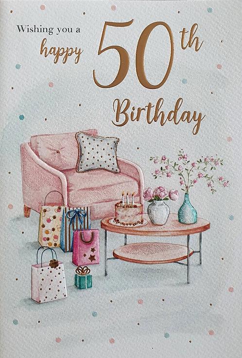 50th Female Birthday Card