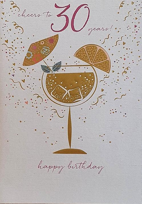 30th Female Birthday Card
