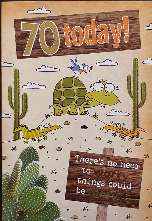 70th Male Humour Birthday Card
