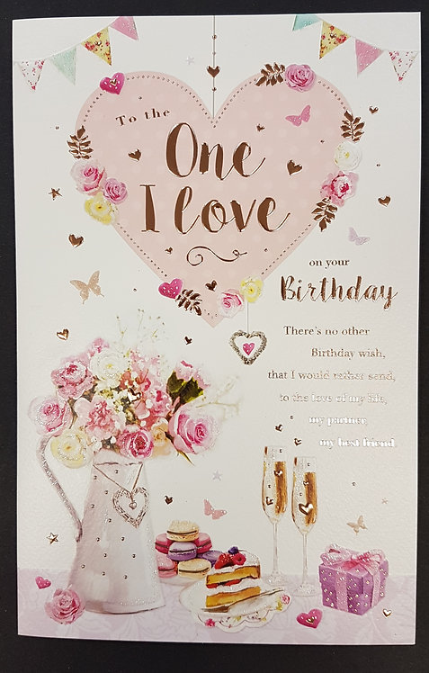 One I Love Birthday Card