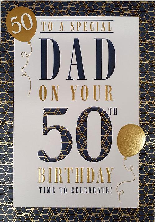 Dad 50th Birthday Card