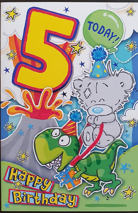 5th Male Birthday Card - Me to You Dinky Bear