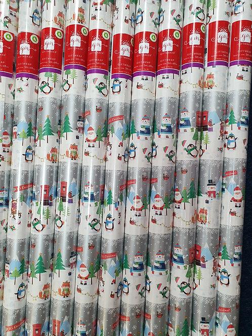 Christmas Rolls of Wrapping Paper - Snowmen & Santa