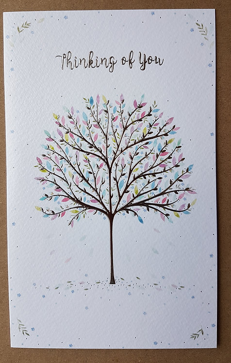 Thinking Of You Greeting Card With Tree