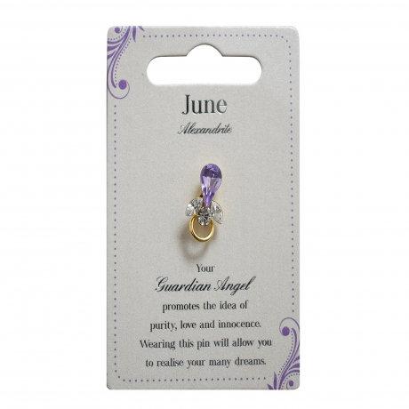 Guardian Angel Pin - June