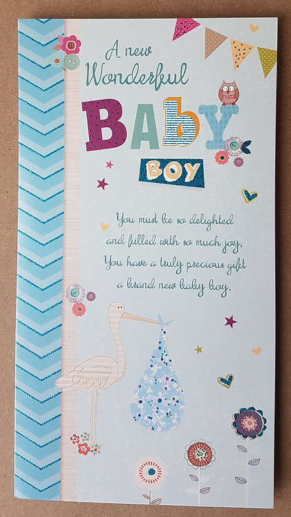 A New Baby Boy - Greeting Card