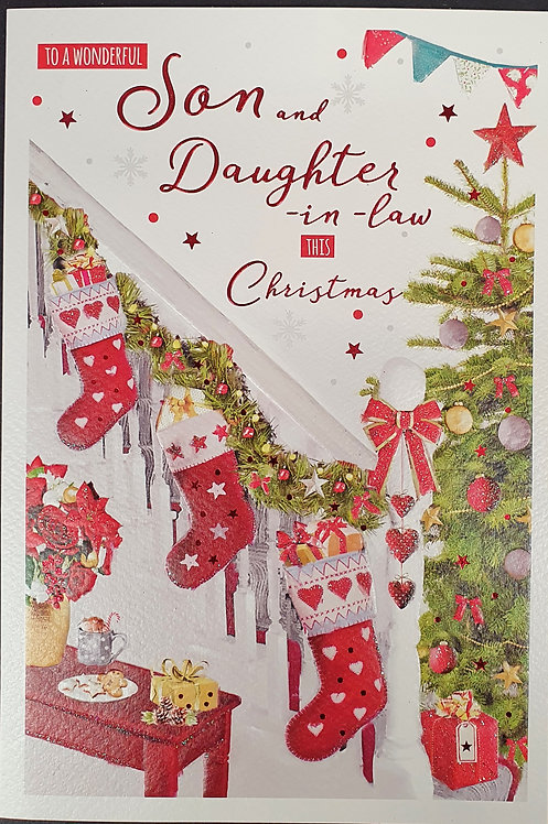 Son and Daughter-in-Law Christmas Greeting Card