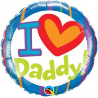"18"" I Love Daddy Balloon - Helium Filled"