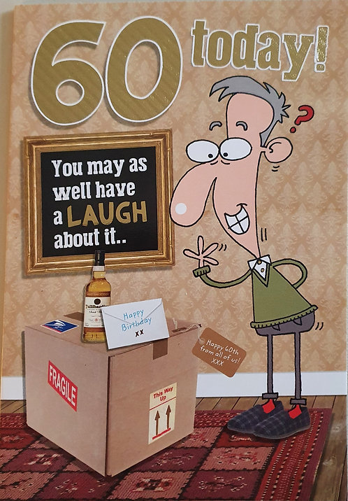 60th Male Humour Birthday Card