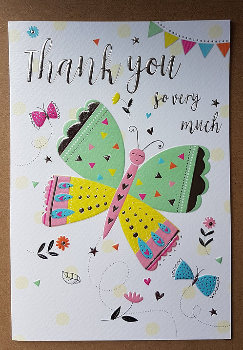 Thank You Greeting Card - Butterfly