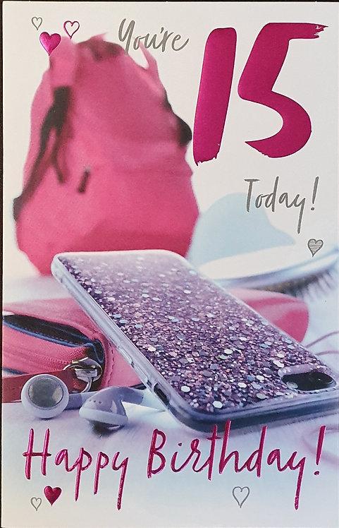 15th Female Birthday Card