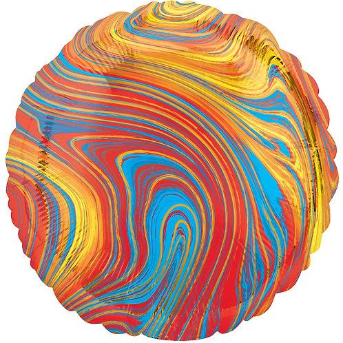"18"" Marblez Colourful Round -  Anagram Balloon - Helium Filled"