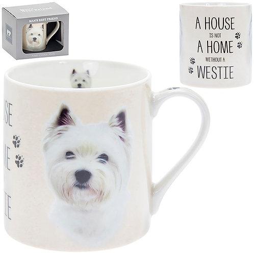 House and Home Fine China Mug - Westie
