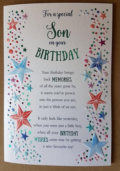 Eternal Range - Son Birthday Card
