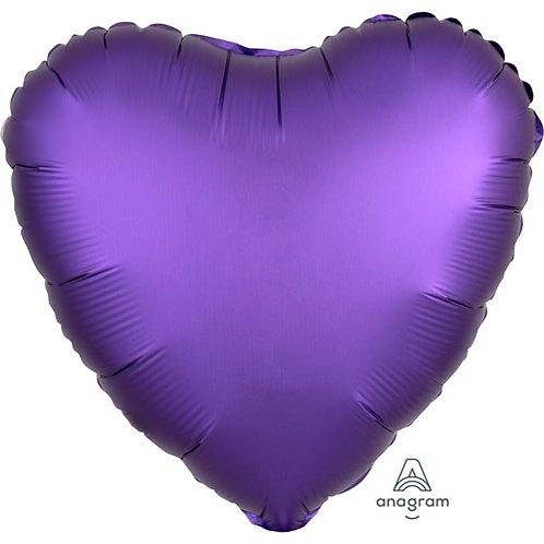 "18"" Purple Royale Heart -  Anagram Balloon - Helium Filled"