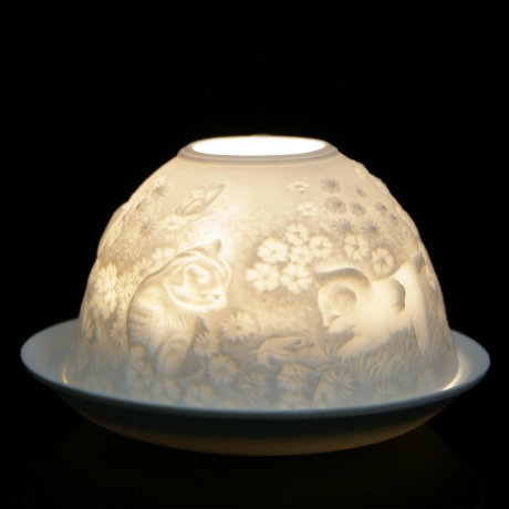 Nordic Light Candle Shade With Kittens