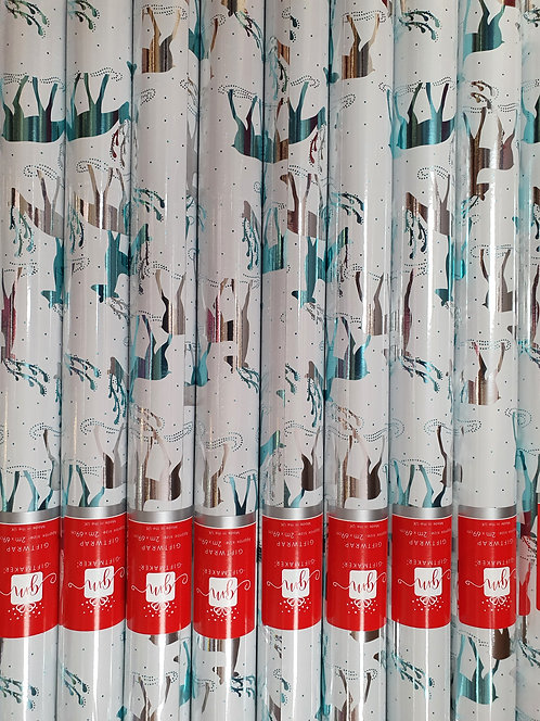 Christmas Rolls of Foil Wrapping Paper -  Reindeer