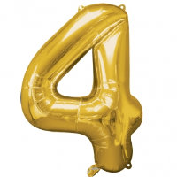 "34"" Large Number Foil Balloon 4 - Helium Filled"