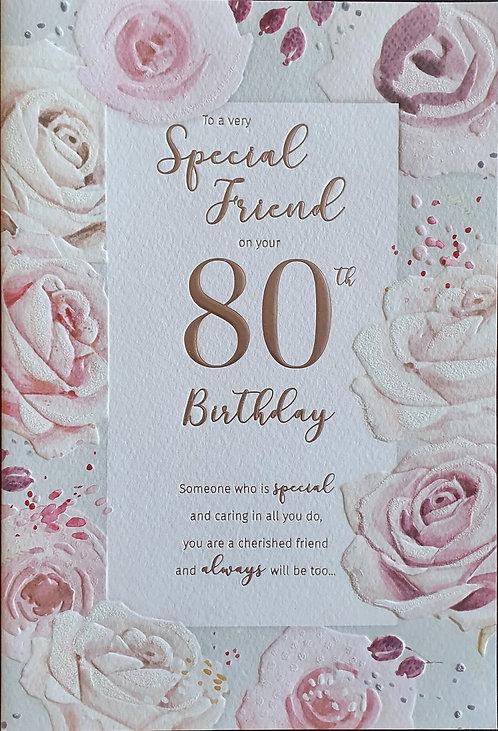 80th Female Friend Birthday Card