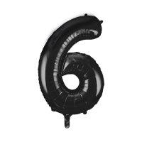 large black number 6 foil helium balloon