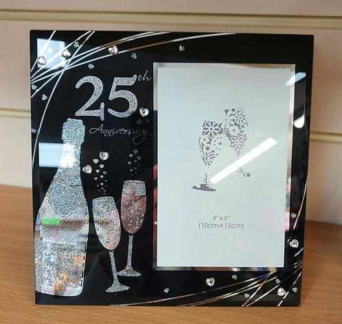 25th Silver Wedding Anniversary Photo Frame - 25 Years