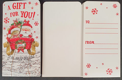 Christmas Money Wallet with Santa's Sleigh