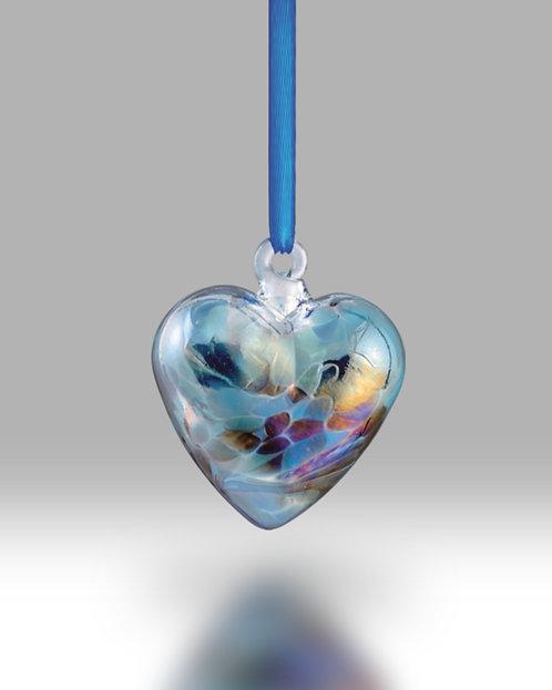 December Birth Gem Heart Nobile Glassware Friendship Ball