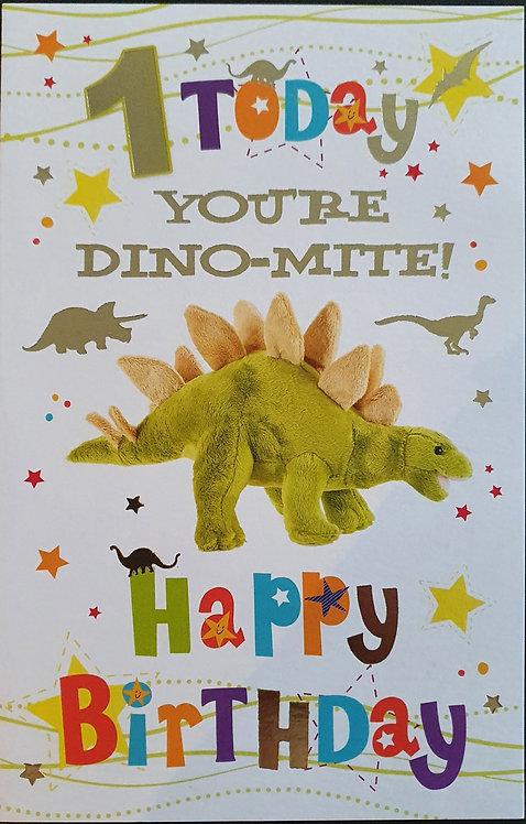 1st Male Birthday Greeting Card