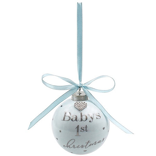 Blue Baby's 1st Christmas Bauble