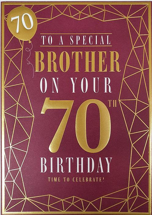 Brother 70th Birthday Card