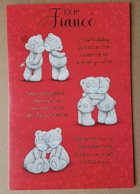 Fiance Birthday Card - Me to You