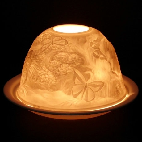 Nordic Light Candle Shade With Butterflies