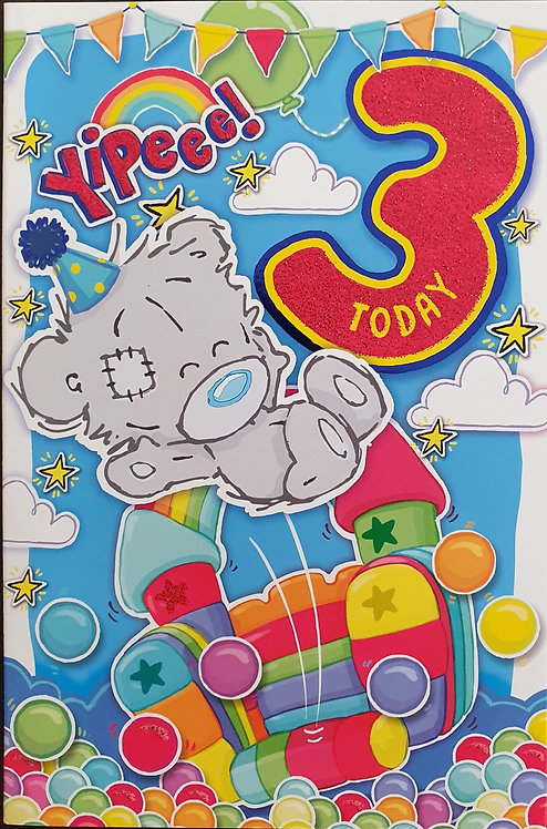 3rd Male Birthday Card - Me to You Dinky Bear